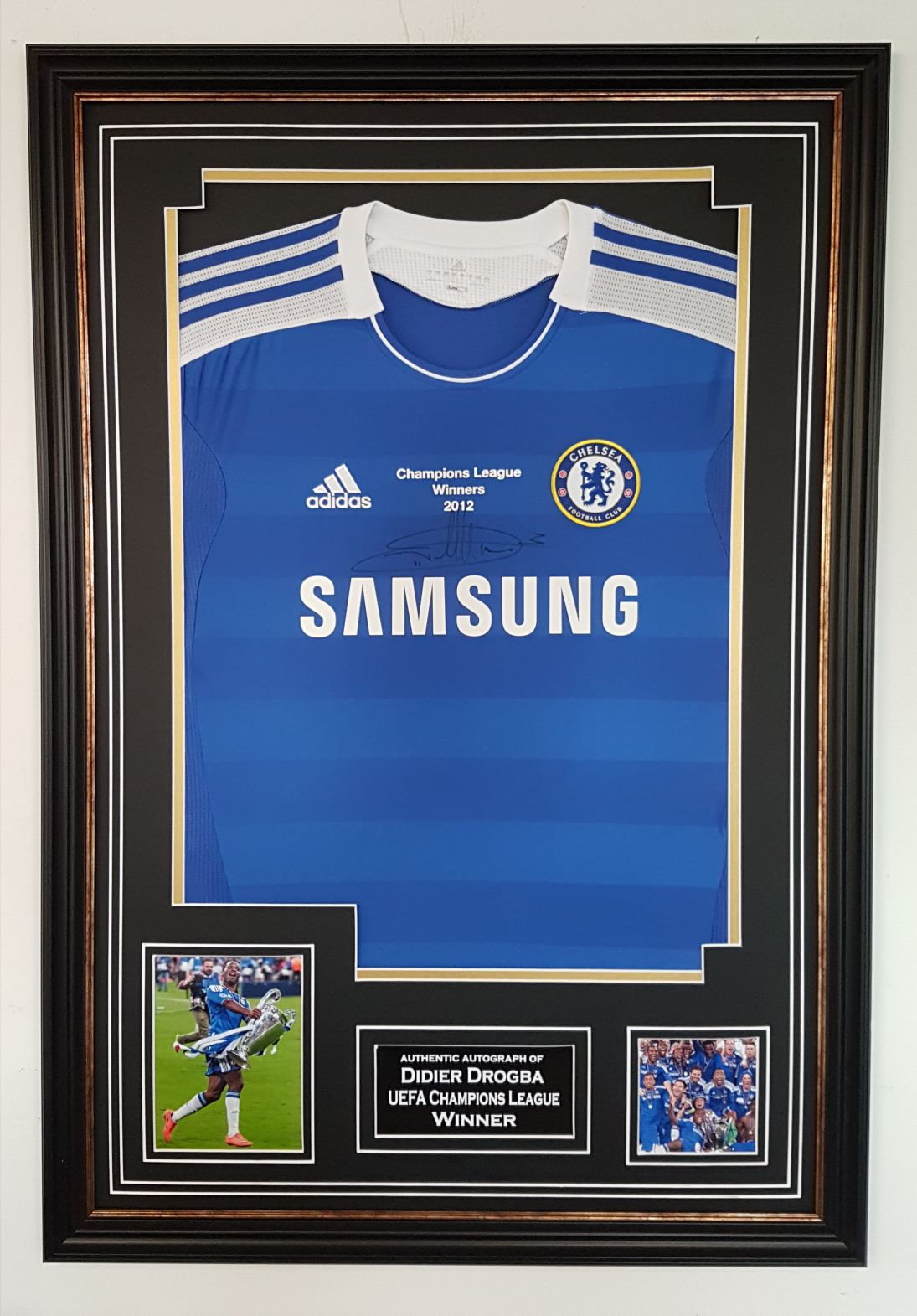 cheap for discount 12453 a2c20 Didier Drogba Signed Chelsea Shirt Framed