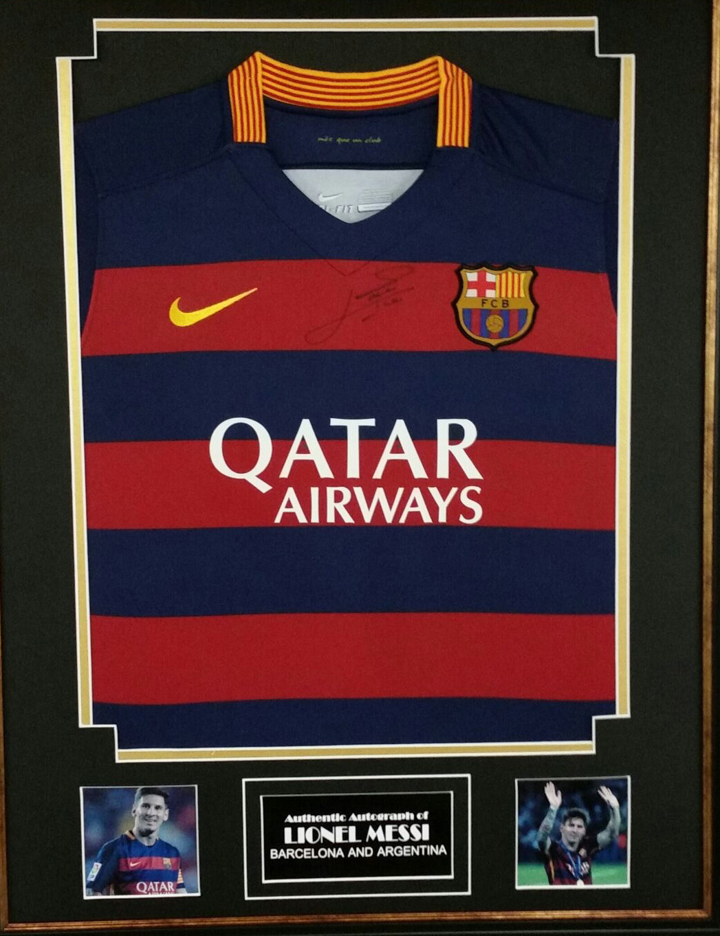 lowest price 10719 140cb Lionel Messi signed shirt