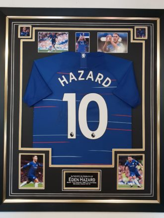 Eden Hazard Signed Chelsea Shirt Framed