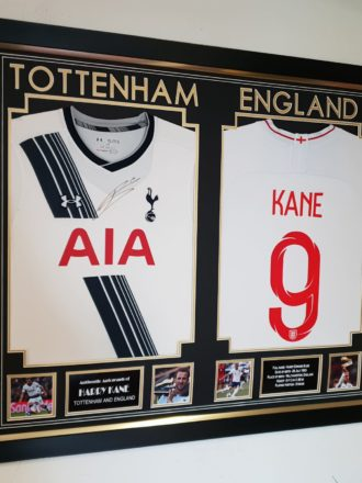 Harry Kane England & Spurs shirts combined