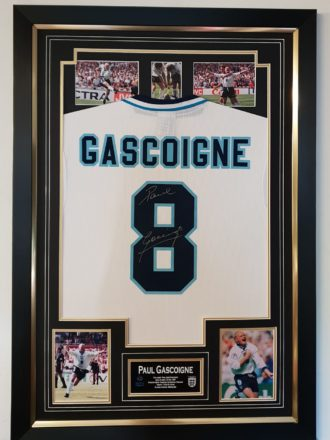 Paul Gascoigne England Shirt Framed 2