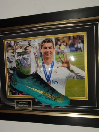 Real Madrid Ronaldo Boot Framed